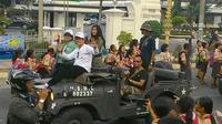 Pawai FFI 2015 di Kota Serang, Banten