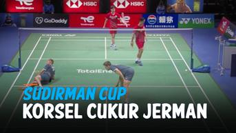 VIDEO: Bulu Tangkis Sudirman Cup 2021, Korea Selatan Cukur Jerman 4-1