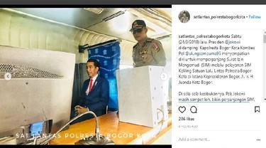 Perpanjang SIM, Presiden Jokowi Manfaatkan Layanan SIM Keliling (Foto: instagram)