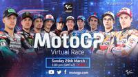 Virtual Race MotoGP yang berlangsung Minggu (29/3/2020). (Istimewa)