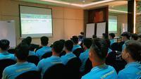 Timnas Vietnam U-22 jelang tampil di SEA Games 2019. (Bola.com/Dok. VFF)