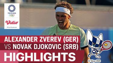 Berita video highlights tenis tunggal putra Olimpiade Tokyo 2020, Novak Djokovic Vs Alexander Zverev, Jumat (30/7/21).