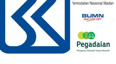 Logo BRI, Pegadaian dan PNM