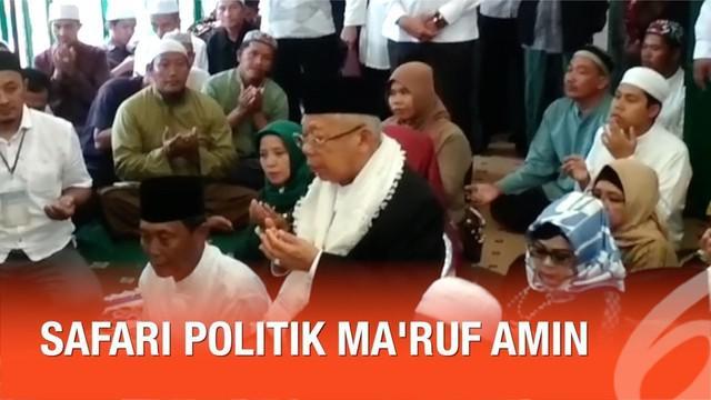 Cawapres Ma'ruf Amin berkunjung ke daerah Kalimantan Selatan, ia sempatkan berziarah ke makam-makam ulama besar.