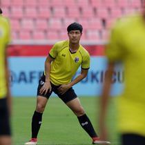 Menjelang duel kontra Timnas Indonesia, Thailand menjalani latihan resmi, di Stadion Rajamangala, Bangkok, Jumat (16/11/2018). (Bola.com/Muhammad Iqbal Ichsan)