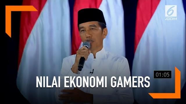 Menurut Jokowi, perkembangan dunia game digital berpengaruh bagi pemasukan negara hingga belasan triliun.