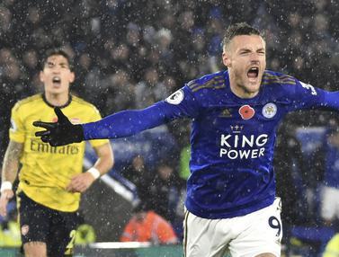 Arsenal Menyerah 2-0 di Kandang Leicester City