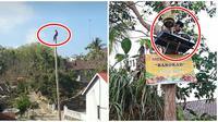 Kelakuan Orang Saat di Atas Pohon ini Bikin Tepuk Jidat (sumber:Instagram/awreceh.id)