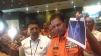 Kepala Basarnas Marsekal Madya TNI M Syaugi saat jumpa pers mengenai KM Sinar Bangun yang tenggelam di Danau Toba (Liputan6.com/ Muhammad Radityo)