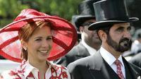 Princess Haya dengan Sheikh Mohammed bin Rashid Al Maktoum (AP Photo)
