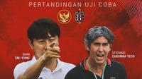 Uji Coba - Timnas Indonesia U-22 Vs Bali United - Head to Head Pelatih (Bola.com/Adreanus Titus)