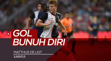 Berita video momen gol bunuh diri yang dilakukan bek baru Juventus, Matthijs de Ligt, saaat menghadapi Inter Milan di ICC 2019, Rabu (24/7/2019).