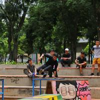 Komunitas Parkour Jakarta, bukan sekadar olahraga untuk menyehatkan badan. (Fimela.com/Adrian Putra)