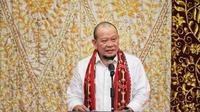 Ketua DPD RI saat memberikan sambutan di acara pertemuan dengan tokoh masyarakat dan agama di Kotamobagu, Sulawesi Utara, Senin, 16 November 2020, beberapa waktu lalu. (Foto:Dok.DPD RI)