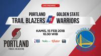 Portland Trail Blazers Vs Golden State Warriors (Bola.com/Adreanus Titus)