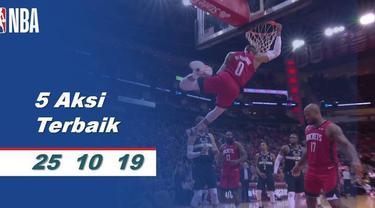 Berita video kumpulan aksi terbaik yang terjadi pada 25 Oktober 2019 di NBA 2019-2020.