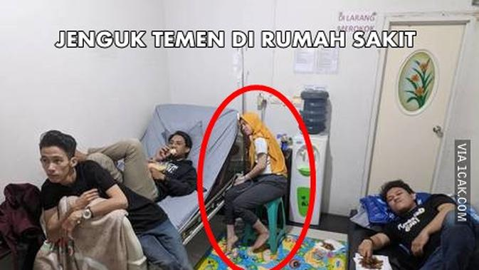 Top 3 Potret Nyeleneh Orang Ketika Jenguk Teman Di Rumah Sakit Citizen6 Liputan6 Com