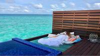 Hotel di Maladewa ini menawarkan fasilitas tidur di jaring atas laut (Dok.Instagram/@grandparkkodhipparu/https://www.instagram.com/p/BoJpz9OHedd/Komarudin)