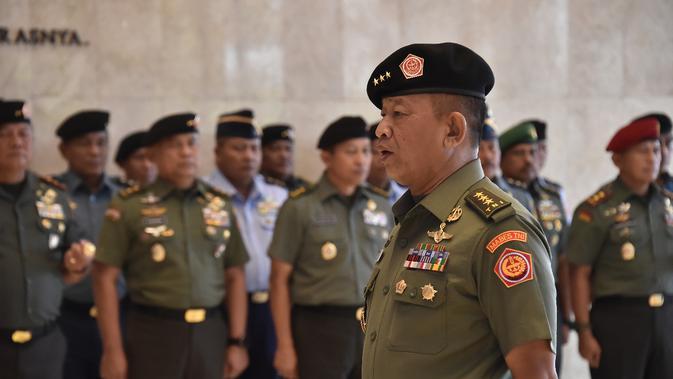 Kenaikan Pangkat 13 Perwira Tinggi (Pati) TNI dengan rincian 7 Pati TNI AD, 5 Pati TNI AL dan 1 Pati TNI AU (Foto: Istimewa)