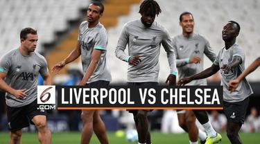 Pertandingan final UEFA Super Cup 2019 akan mempertemukan Liverpool vs Chelsea. Duel dua tim asal Inggris tersebut akan digelar di Vodafone Park, Kamis (15/8/2019) dini hari WIB.