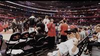 Agnez Mo Nonton Pertandingan NBA (Instagram)