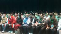 Sejumlah tokoh parpol menghadiri muktamar PKB di Bali. (Liputan6.com/Dewi Divianta)