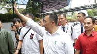 Menpora Imam Nahrawi usai menghadiri acara perpisahan dengan pejabat Kemenpora di Jakarta, Kamis (19/9/2019). Sebelumnya KPK menetapkan Menpora Imam Nahrawi sebagai tersangka kasus dugaan suap dana hibah KONI. (Liputan6.com/Helmi Fithriansyah)
