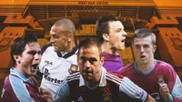 West Ham United - Frank Lampard, John Terry, Michael Carrick, Rio Ferdinand, Joe Cole (Bola.com/Adreanus Titus)