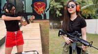 6 Gaya Seleb Wanita Saat Latihan Menembak, Curi Perhatian (Sumber: Instagram/ramadhaniabakrie/febbyrastanty)