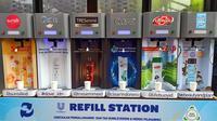 Salah satu refill station yang diluncurkan Unilever pada Selasa, 25 Februari 2020, di Jakarta. (Liputan6.com/Dinny Mutiah)