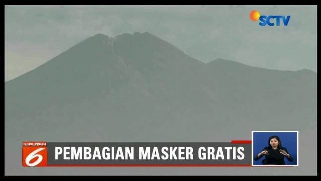 Antisipasi dampak buruk hujan abu dari Gunung Merapi, BPBD Yogyakarta siapkan puluhan ribu masker untuk dibagikan kepada warga secara gratis.
