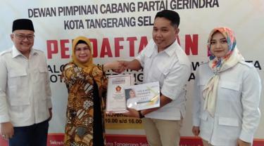 Putri Ma'ruf Amin, Siti Nur Azizah mendaftar ke Partai Gerindra untuk mengikuti Pilkada Tangsel.
