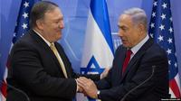 Pertemuan antara PM Israel Benjamin Netanyahu dengan Menlu AS Mike Pompeo.