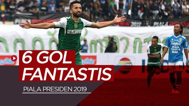 Berita video gol-gol fantastis yang tercipta pada fase grup Piala Presiden 2019. Siapa yang paling fantastis?