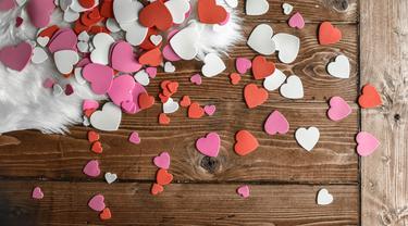 Ilustrasi ucapan hari Valentine