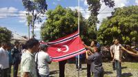 Pengibaran bendera GAM (Liputan6.com/ Windy Phagta)