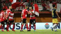 Duel Madura United vs Badak Lampung di Stadion Gelora Madura, Pamekasan, Sabtu (27/7/2019). (Bola.com/Aditya Wany)