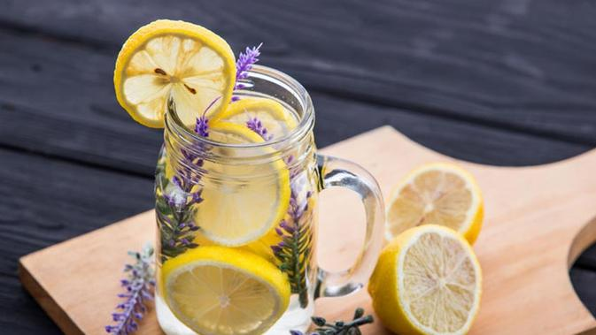 cara membuat air lemon diet