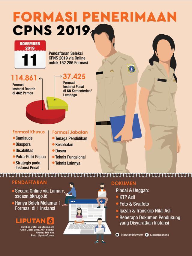 Infografis Formasi Penerimaan CPNS 2019