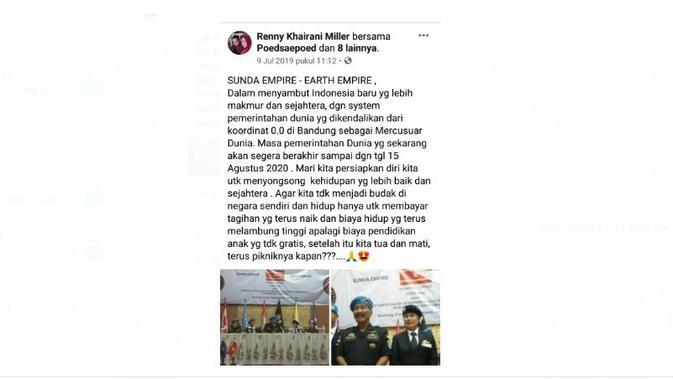 Viral beredar soal Sunda Empire-Earth Empire yang ada di Bandung, Jawa Barat. (Istimewa)