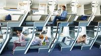 Prediksi kursi kelas ekonomi di pesawat pada era kenormalan baru. (dok. laman resmi Zephyr Aerospace)