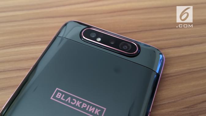Kamera di Galaxy A80 BlackPink. (Liputan6.com/ Agustinus Mario Damar)