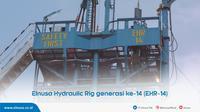 Elnusa Hydraulic Rig 14 atau EHR-14 merupakan unit ketiga yang sepenuhnya difabrikasi oleh anak bangsa.