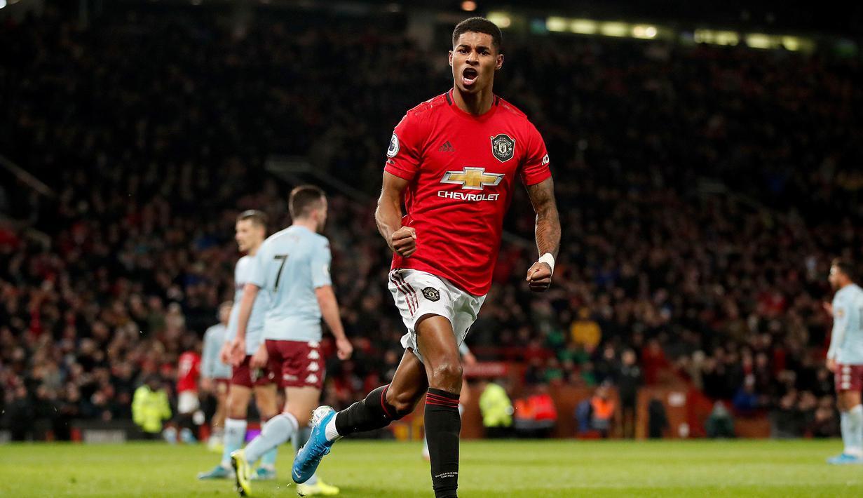 FOTO Manchester United Ditahan Imbang Aston Villa Di Old