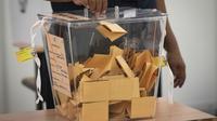 Kotak suara yang digunakan dalam Pemilu Malaysia Mei 2018 (AP Photo/Vincent Thian)