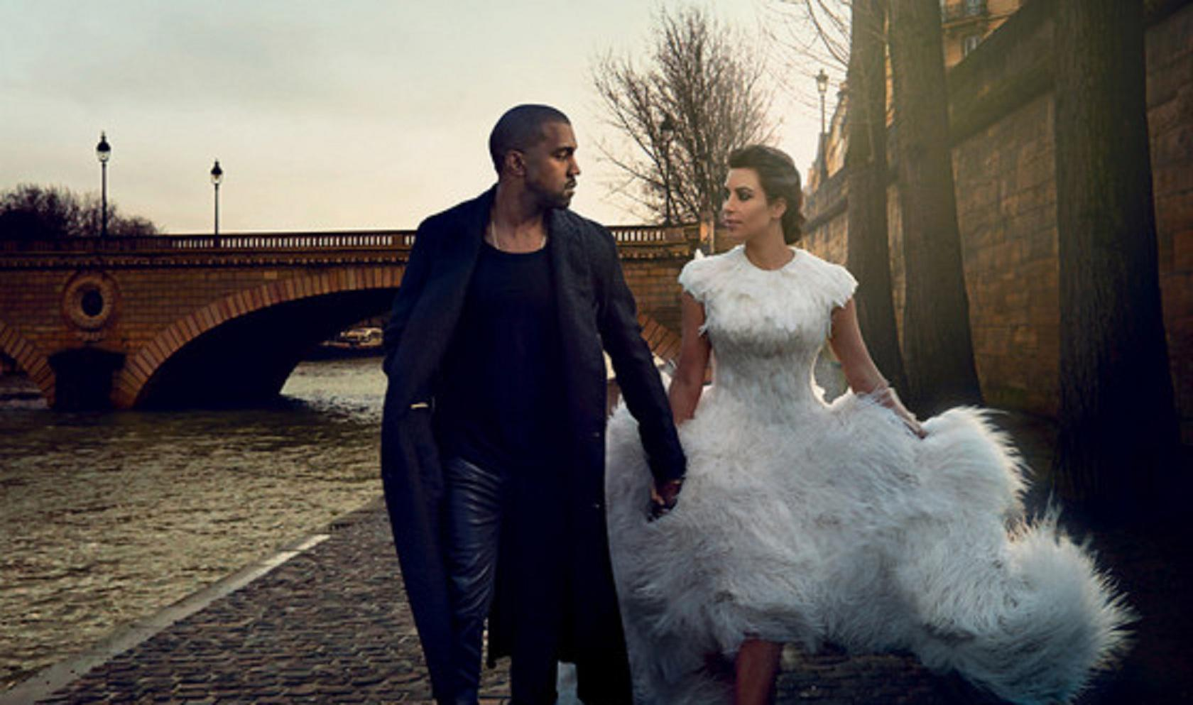 Kim Kardashian dan Kanye West (E!)