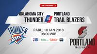 Oklahoma City Thunder Vs Portland Trail Blazers (Bola.com/Adreanus Titus)