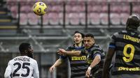 Tiga pemain Inter Milan yang pernah merumput bersama Manchester United yakni, Romelu Lukaku, Alexis Sanchez dan Matteo Darmian masing-masing menyumbang satu gol saat mengalahkan Genoa. (Foto: AFP/Filippo Monteforte)