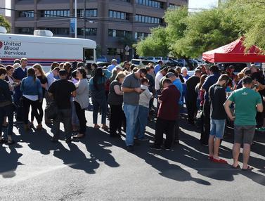 Warga Las Vegas Antre Donor Darah demi Korban Penembakan