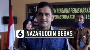 Mantan Bendahara Umum Partai Demokrat Muhammad Nazaruddin bebas murni hari ini. Nazaruddin bebas setelah menjalani bimbingan cuti menjelang bebas (CMB).